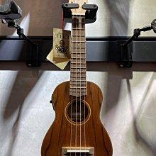 【六絃樂器】全新 TIKI TDS-4P 21吋 內建調音器 拾音器 黑桃木烏克麗麗 / 現貨特價