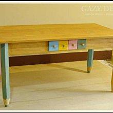 GAZE DESIGN 童趣感。繽紛蠟筆造型全實木餐桌。書桌。工作桌/設計款展示品出清