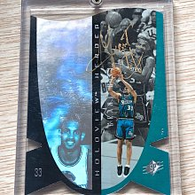 Grant Hill ~ 美國NBA職籃超級傳奇明星球員極稀少親筆簽名金簽 1996-97 SPX HH 高比例雷射卡 ~ 簽於晶華酒店