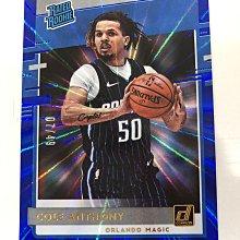 2020-21 NBA Panini Donruss Cole Anthony RC 藍亮 新人卡 限量49張