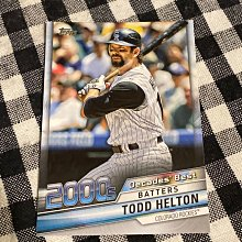 Todd Helton 2020 Topps Update Series 2010s Decades' Best Batters DB-69