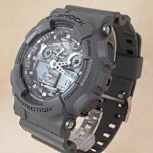 【美國鞋校】現貨 卡西歐 CASIO G-Shock GA-100CF-8A 雙顯 三眼 camo 黑底 灰迷彩 手錶