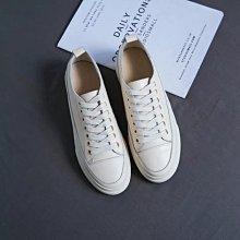 零碼 真皮小白鞋 DANDT 時尚金屬環全真皮休閒鞋