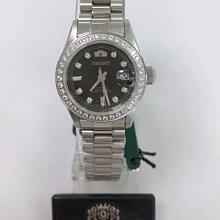 可議價 ORIENT東方錶 女 黑鑽面時尚 機械腕錶 (SE71F17S)