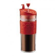 丹麥 Bodum  TRAVEL 雙層 濾壓真空隨行杯 咖啡法壓杯 450ml  紅色