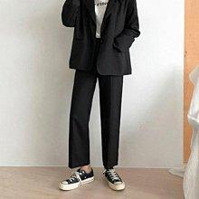 促銷特價 黑色垂感闊腿褲女夏季薄款高腰寬松直筒褲大碼胖mm顯瘦休閑九分褲-紫色微洋-可開發票