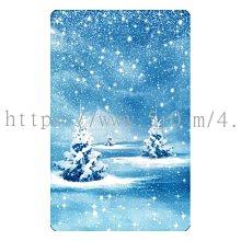 〈亮晶細沙 卡貼 貼紙〉聖誕樹 聖誕節 下雪 雪地 christmas  貼紙 悠遊卡貼紙