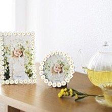 日本Ladonna 白色小雛菊4X6金屬相框/ BJ11-P/ 另有2X3和3格相框