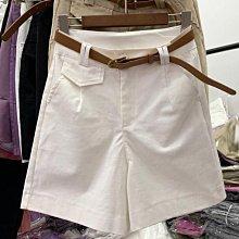 休閒短褲 高品質微彈高腰工裝褲闊腿褲五分褲 艾爾莎【TAE8819】