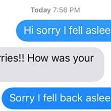 優生活~不好意思你剛講話我睡著了 旁白原創惡搞T恤 Sorry I Fell Asleep
