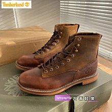 Timberland 經典手工縫製休閒戶外男鞋咖色39-44碼