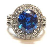 實驗室藍寶石鑽石珠寶首飾925純銀包白金戒指微鑲主鑽5克拉高碳鑽石肉眼看是真鑽超低價鉑金質感可通過測鑽莫桑鑽寶特價優惠