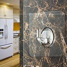 單入裝透明強力無痕掛鉤6*6cm門後廚房衛生間防水掛鉤黏貼壁掛小粘鉤