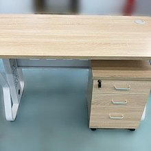 【樂居二手家具】台中全新中古傢俱家電最便宜EA5265*全新辦公桌+活動櫃*辦公家具 辦公椅 OA辦公設備 中古家具家電
