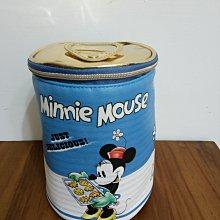 天使熊雜貨小舖~日本帶回迪士尼-米妮罐頭造型包 收納包 全新現貨