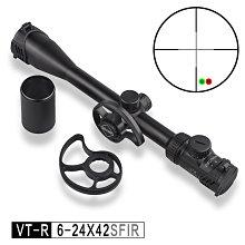 【WKT】DISCOVERY發現者VT-R 6-24X42SFIR手輪帶燈款內充氮氣防水防霧狙擊鏡-DI9150