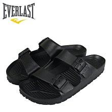 【橘子包包館】EVERLAST AB拖 戶外休閒拖鞋 4025220120 黑色 男女款 拖鞋