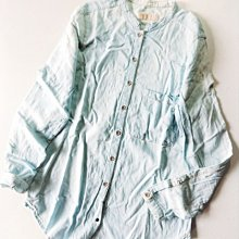 (((最後出清!!))) 二手 ~ ZARA Z1975淺藍色 純棉 牛仔襯衫 (XS)