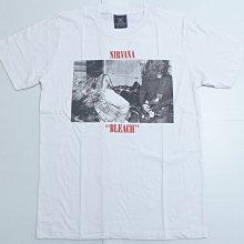 【Mr.17】 Nirvana 超脫樂團 BLEACH 另類搖滾樂團 經典 白色短袖T-SHIRT(KR043)