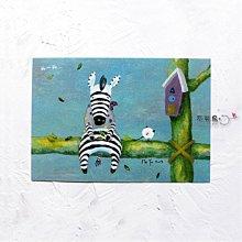 卡片 明信片*搬斑馬-聊一聊*不哭鳥