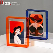 【格格屋】簡約輕奢創意亞克力相框擺台6寸個性客廳書房辦公室家居軟裝飾品