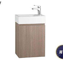 【HS磁磚衛浴生活館】一太衛浴精巧木紋單開浴櫃組深咖 邊間小空間超合適 瓷盆+浴櫃EC-9048AC