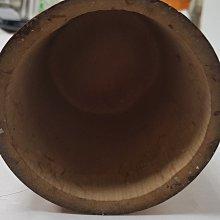 【日本古漾】A0503 日本花道用品 竹花器 有傷 直徑約11cm 高約65cm