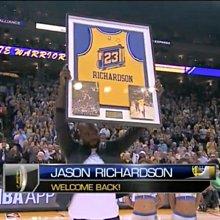NIKE NBA 金州 勇士 Jason Richardson 復古 洞洞 球衣