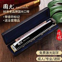 上海國光口琴成人28孔重音復音C調送自學教程兒童入門成人樂器