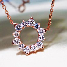 【艾琳珠寶藝術】天然鑽石0.66克拉鑽墜,白k金,玫瑰金,似HEARTS ON FIRE 日蝕款
