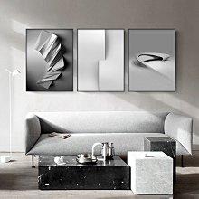 C - R - A - Z - Y - T - O - W - N 極簡風格黑白灰抽象裝飾畫現代簡約藝術掛畫沙發背景三聯畫設計師款裝飾畫商業空間掛畫接待室裝飾畫