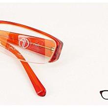 【My Eyes 瞳言瞳語】ALAIN DELON 亞蘭德倫清透感橘紅眉型鏡框 彈簧鏡腳設計