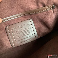 美國大媽代購COACH 76105 素面牛皮拼色翻蓋 手提單肩斜背包 顏色2 美國代購