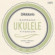 D'Addario EJ87S Soprano 21吋 烏克麗麗弦 紫色 半透明  - 【黃石樂器】