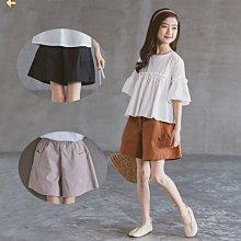 小圖藤童裝~~~中大童~~~2021新款夏季女童短褲中大童高腰童褲(A2625)
