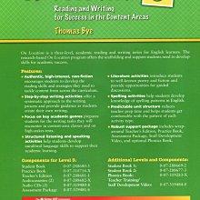 英文閱讀 寫作On Location 2-3:Reading & Writing for Success in Content Areas 2書2CD(全新)