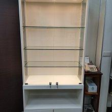 大豐LED玻璃櫥櫃-公仔櫃-可調高低、展示櫃、珠寶櫃、飾品櫃、玻璃櫃、手機櫃、鐘錶櫃