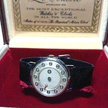 西風(((1950年積架 LeCoultre 鑽石 神秘錶盤14K白金男士手錶 (附原盒)