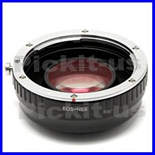 Lens Turbo減焦增光CANON EOS EF鏡頭轉Sony NEX E卡口轉接環A6300 A7S A7 A7R