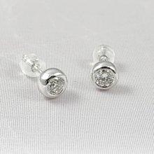 順利當舖  (全新品) 0.33ct 純白全美八心八箭特級美鑽兩顆淑女鑽石耳環