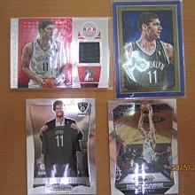 網拍讀賣~Brook Lopez~籃網隊球星~羅培茲~紅版限量球衣卡/199~藍版油畫限量卡/75~首號~亮面~普特卡~