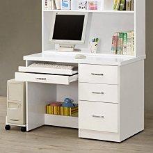 Gen9 家具生活館..貝莎3.5尺白色電腦桌(全組)(特價中)-CM:212-4..台北地區免運費!!
