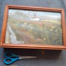 藝術畫框 複製畫 鑰匙收納盒