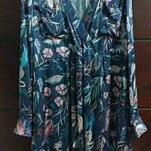 比利時品牌 ESSENTIEL ANTWERP 純絲藍交襟領洋裝,裙口袋未剪有內裡歐碼36尺寸偏大(適合M碼)alice diane Self-portrait