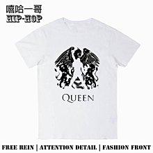 呱啦呱啦代購 圓領短袖 T恤 短T 情侶衣服 皇后樂隊queen We will rock you搖滾