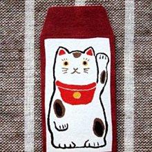 【日本購回,現貨出清】日本製 和紙 小豆袋 信封 10入組 ──紅底招財貓款&藍底白貓款