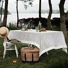 MOK 北歐風雅致浪漫唯美精緻蕾絲繡花桌布桌巾 野餐桌布 背景布 拍攝道具 220*147