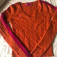 美國正品 Juicy couture 橘紅色經典羊絨衫 cashmere 100% m