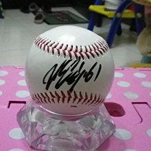 棒球天地--5折賠錢出--美國大聯盟水手隊 川崎宗則 簽名球.字跡漂亮