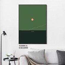 C - R - A - Z - Y - T - O - W - N 法國設計師極簡版畫晚安月亮系列掛畫chic風床頭裝飾畫簡約綠黑抽象小品藝術和畫有框畫無框畫